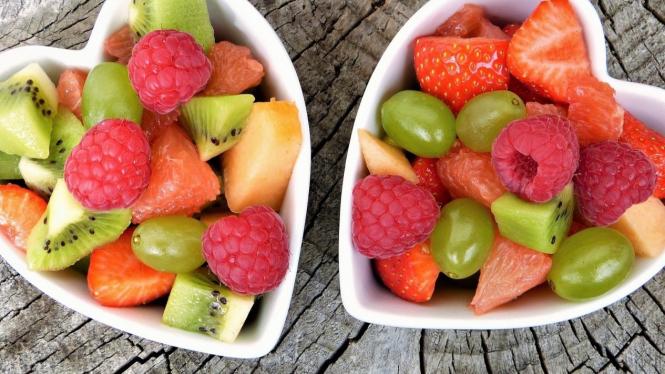 ilustrasi buah sebagai makanan sehat
