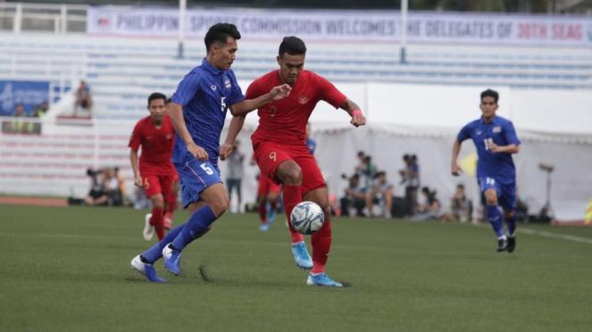 Timnas Indonesia U-22 vs Timnas Thailand di SEA Games 2019