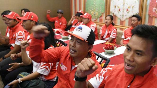 Tim balap sepeda Indonesia.