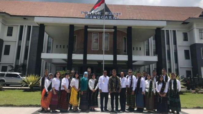 Kunjungan peserta Sesparlu ke 63 ke Kantor Bupati Manggarai Nusa Tenggara Timur