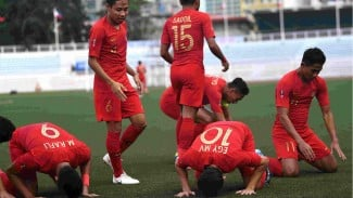Selebrasi gol timnas Indonesia U-23 di SEA Games 2019