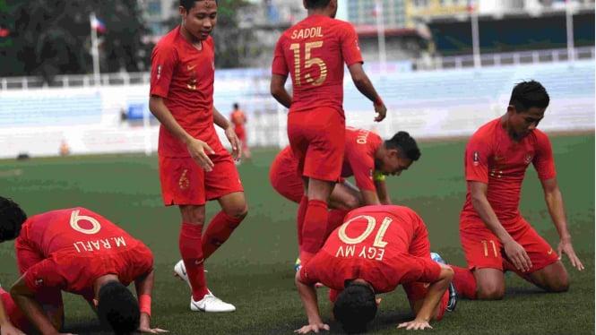 Selebrasi gol timnas Indonesia U-23 di SEA Games 2019