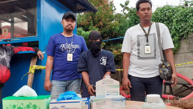 Polresta Tangerang Ringkus Pelaku Perakitan Benda Menyerupai Bom di Tangerang.