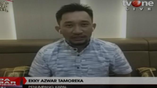 Ekky Azwar Tamoreka terlantar di laut lepas selama 48 jam