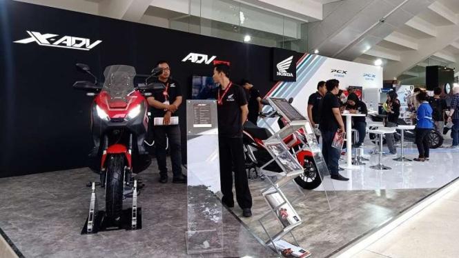 Stan Astra Honda Motor di pameran IIMS Motobike Expo 2019 di Jakarta
