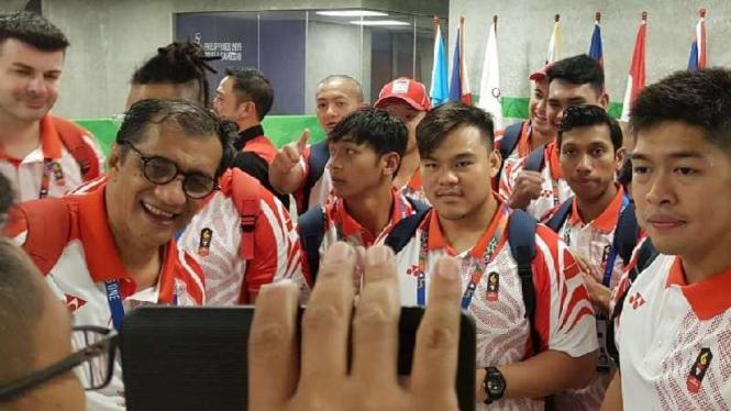 Tim Nasional Polo Air Putra Indonesia sukses meraih medali emas.