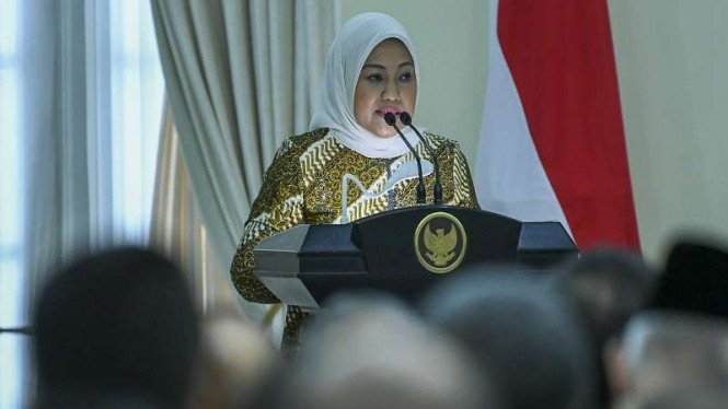 Menteri Tenaga Kerja Ida Fauziyah di Istana Wakil Presiden