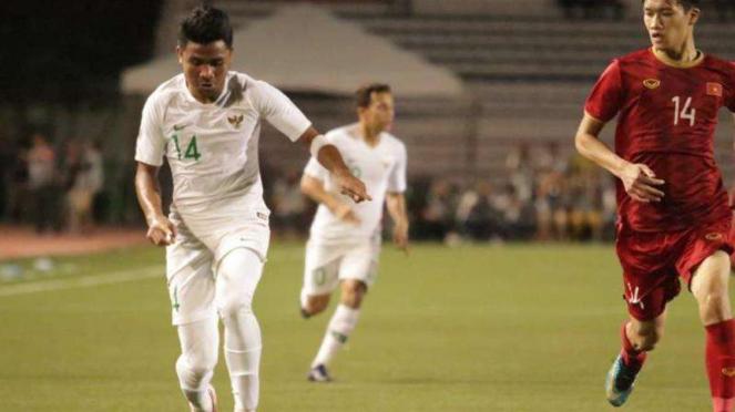 Pertandingan Timnas Indonesia U-22 kontra Vietnam di SEA Games 2019