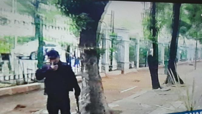 Lokasi ledakan di kawasan Monas Jakarta