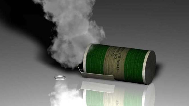 Granat asap.