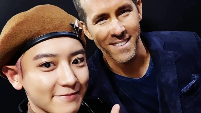 Chanyeol EXO dan Ryan Reynolds.