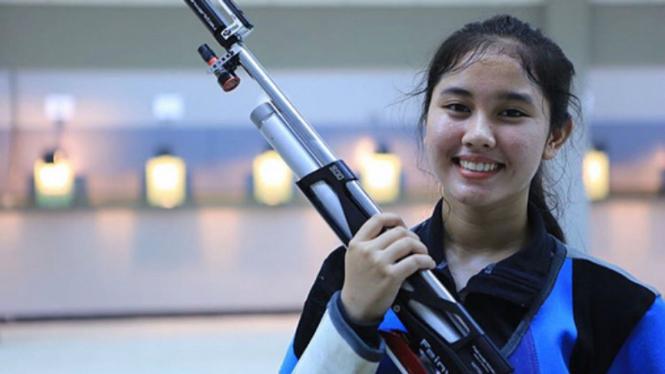Atlet menembak putri Indonesia, Vidya Rafika Rahmatan Toyyiba