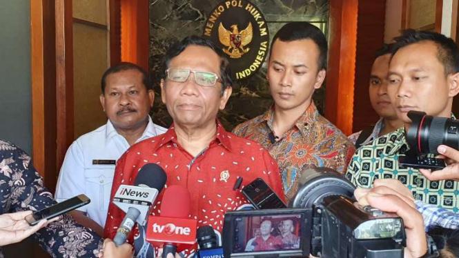 Menteri Koordinator Bidang Politik, Hukum dan Keamanan Mahfud MD