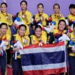Tim badminton putri Thailand juara SEA Games 2019.