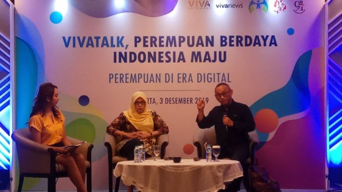 Acara VIVAtalk, Perempuan Berdaya, Indonesia Maju
