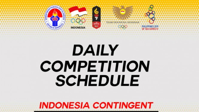 Jadwal pertandingan Kontingen Indonesia di SEA Games 2019