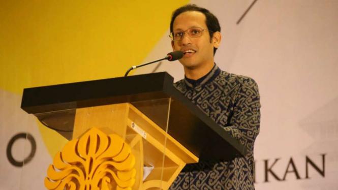 Nadiem Makarim Buang Naskah Pidato, Bikin Kampus UI Bergetar