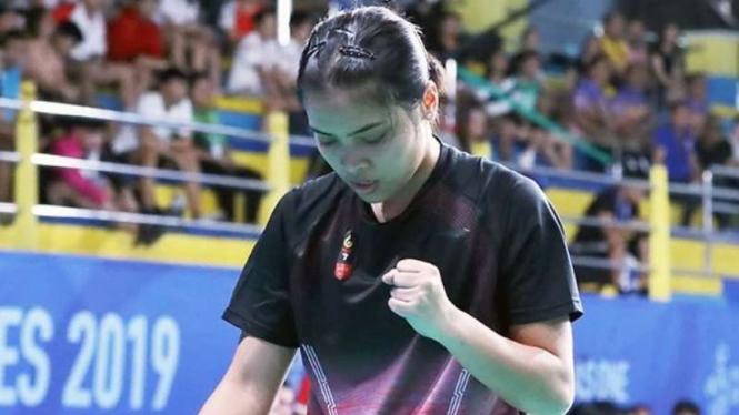 Gregoria Mariska Tunjung di SEA Games 2019.