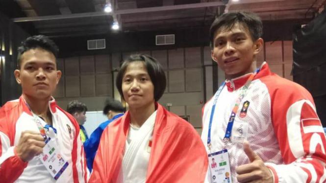 Trio pejudo Indonesia sumbang 2 emas dan satu perak SEA Games 2019