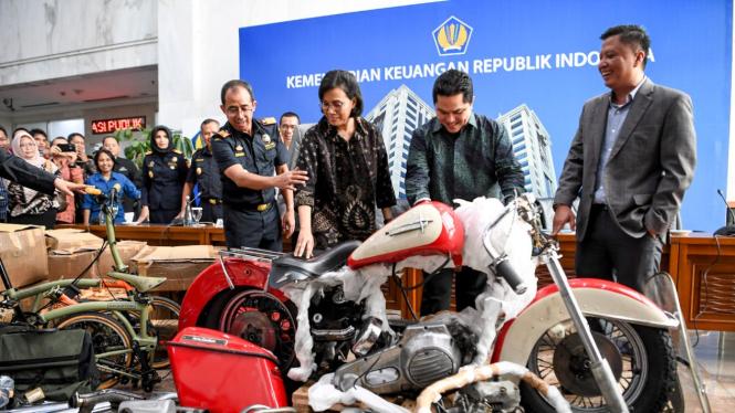 Harley-Davidson selundupan di pesawat Garuda Indonesia