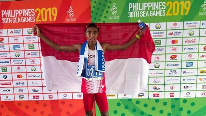 Agus Prayogo raih emas SEA Games 2019 di nomor maraton
