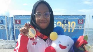 Dea Salsabila Putri, raih emas SEA Games cabang modern pentathlon