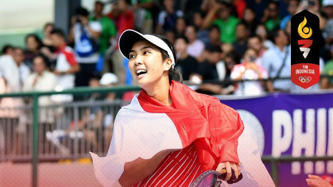Petenis putri Indonesia, Aldila Sutjiadi rebut emas tunggal putri SEA Games 2019