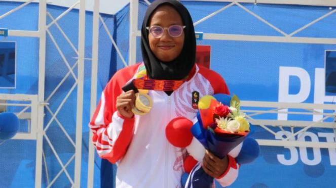 Atlet modern pentatlon putri Indonesia, Dea Salsabila.
