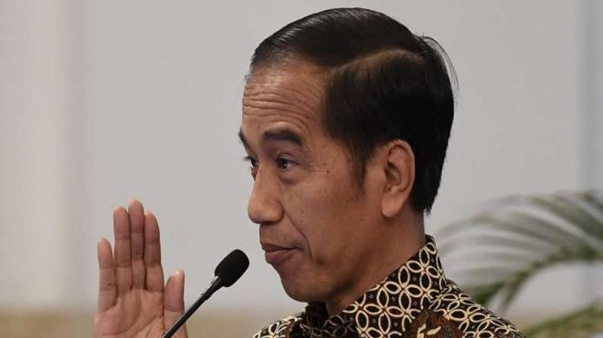 Presiden Joko Widodo saat pembukaan Kongres XXV KOWANI di Istana Negara, Jakarta