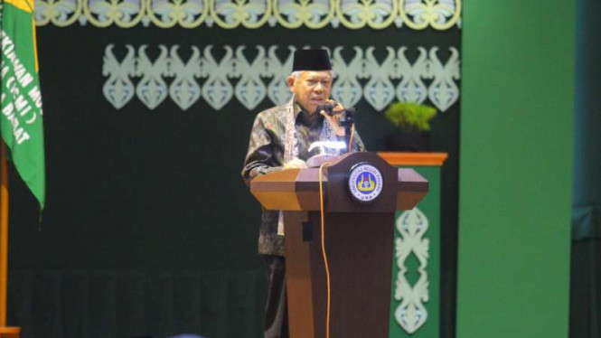 Wakil Presiden Ma'ruf Amin Silaturahmi Kerja Nasional dan Milad ke-29 Ikatan Cendekiawan Muslim Indonesia di kampus Universitas Negeri Padang, Sumatera Barat, Jumat, 6 Desember 2019.