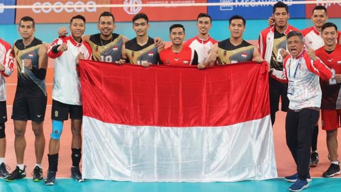 Tim bola voli putra Indonesia lolos ke semifinal SEA Games 2019