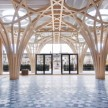 The atrium of the new Cambridge Central Mosque - Marks Barfield Architects