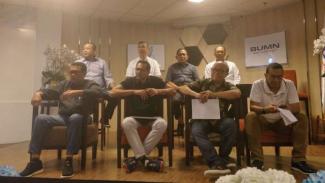 Konferensi pers  Dewan Komisaris Garuda Indonesia terkait penyelundupan Harley Davidson
