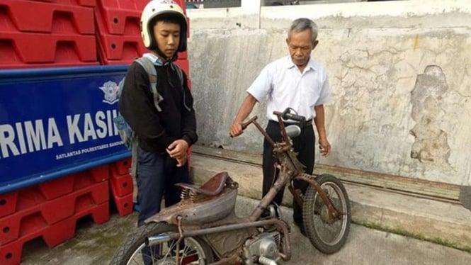 Polisi tangkap motor tua