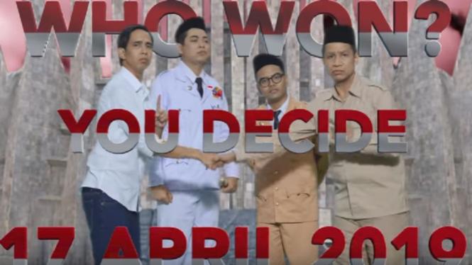 Adu rap 'Prabowo vs Jokowi'