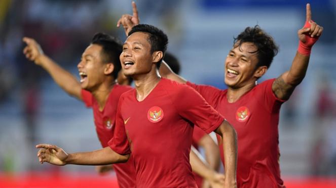 Evan Dimas Darmono bermain bersama Timnas Indonesia U-22 di SEA Games