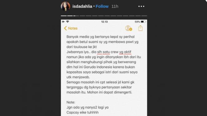 Pernyataan Iis Dahlia soal pilot pesawat Garuda Indonesia