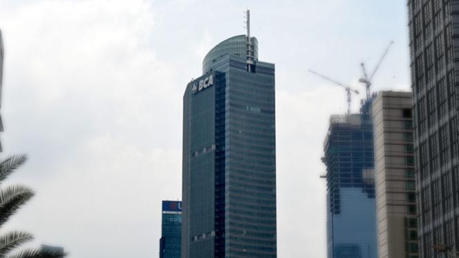 Menara PT Bank Central Asia TBk (BBCA) MH Thamrin, Jakarta Pusat.