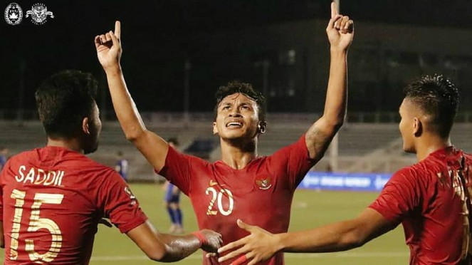 Bomber Indonesia, Osvaldo Haay (tengah) incar gelar top scorer SEA Games 2019