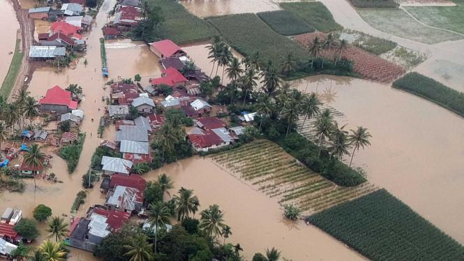 Dampak Banjir Limapuluhkota di Sumbar