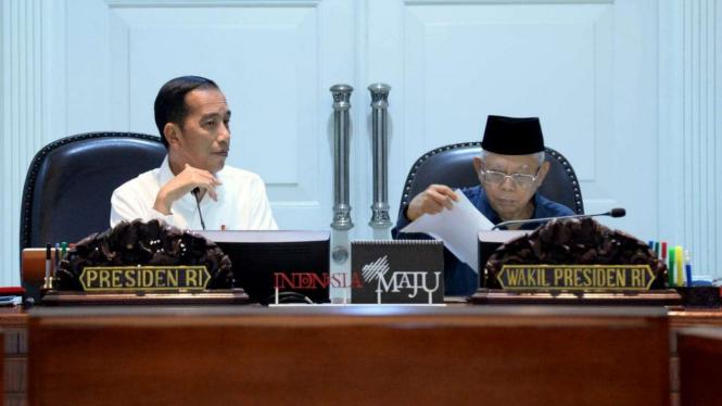 Presiden Joko Widodo dan Wakil Presiden Maruf Amin.