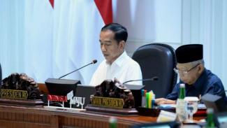 Presiden Jokowi dan Wapres Ma'ruf Amin saat menggelar rapat kabinet di Istana Negara Jakarta. (Foto ilustrasi)