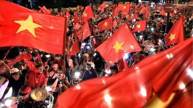 Pesta rakyat Vietnam sambut torehan emas sepakbola SEA Games 2019