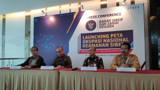 Konferensi pers BSSN