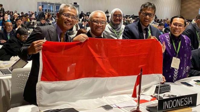 Delegasi Indonesia dalam sidang UNESCO di Kolombia