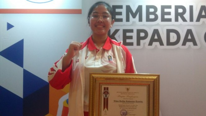 Atlet menembak RI peraih emas SEA Games 2019, Vidya Rafika Rahmatan Toyyiba