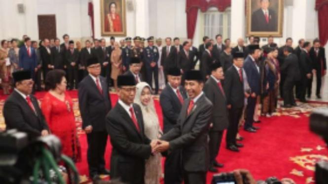 Presiden Jokowi lantik 9 Wantimpres di Istana Negara