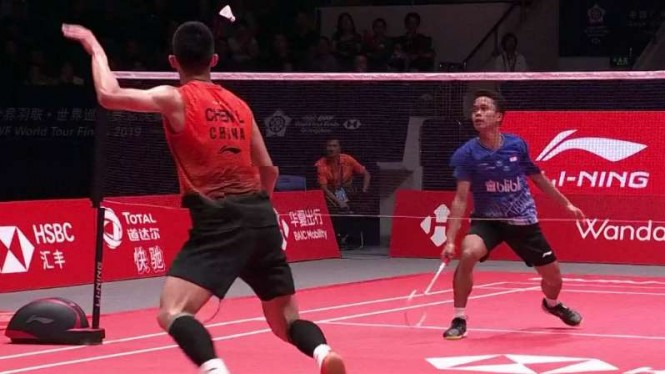 Anthony Ginting Penghancur Bulutangkis China di BWF World Tour Finals