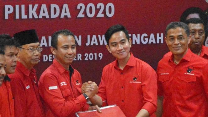 Gibran Rakabuming Raka daftar ke DPD Jateng untuk Pilkada Kota Solo.
