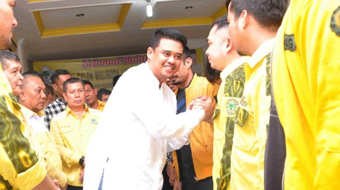 Mantu Jokowi, Bobby Afif Nasution daftar untuk maju Pilkada Kota Medan
